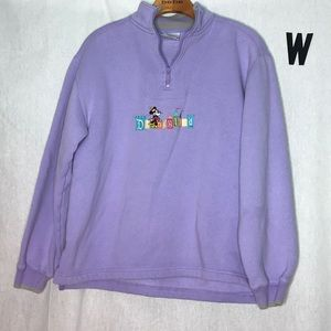 Vintage DisneyLand Resort spell out half zip smal